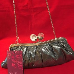 LULU TOWNSEND Pleated Framed Kiss Lock Evening Bag